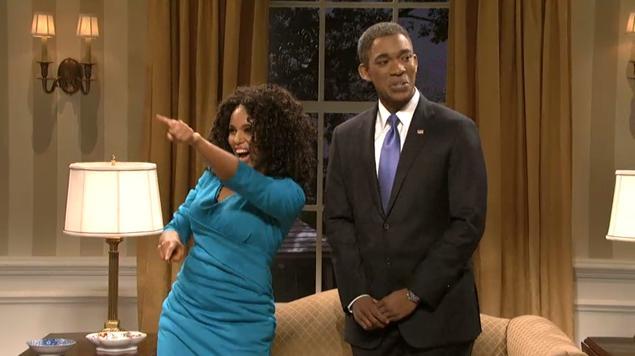 "Kerry Washington as Oprah Winfrey opposite Jay Pharoah's President Obama on ""Saturday Night Live,"" Nov. 2, 2013"