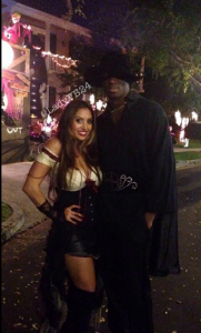 Kobe Bryant and his lovely wife Vanessa dressed as Zorro and his love.