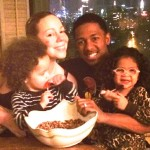 Thanksgiving With Nick, Mariah and Dem Babies (Pic)