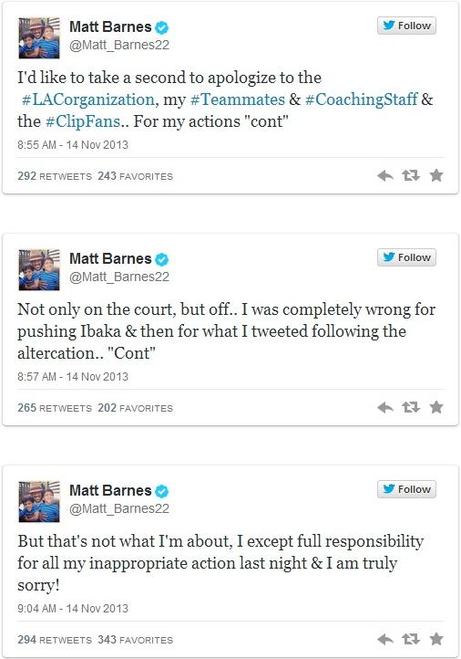 matt barnes tweets
