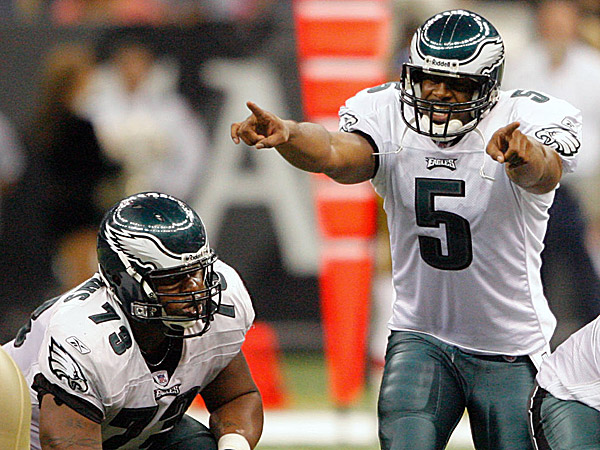 Former Eagles quarterback Donovan McNabb and offensive lineman Shawn Andrews