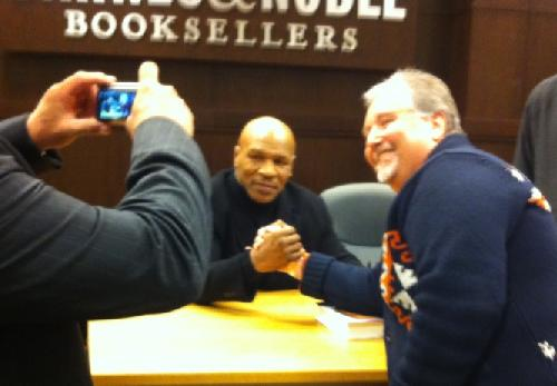 mike tyson (greets fans at the grove)