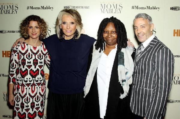 Sara Bernstein (vice president, HBO Documentary Films), Sheila Nevins (president, HBO Documentary Films, Whoopi Goldberg (producer), Tom Leonardis (producer)