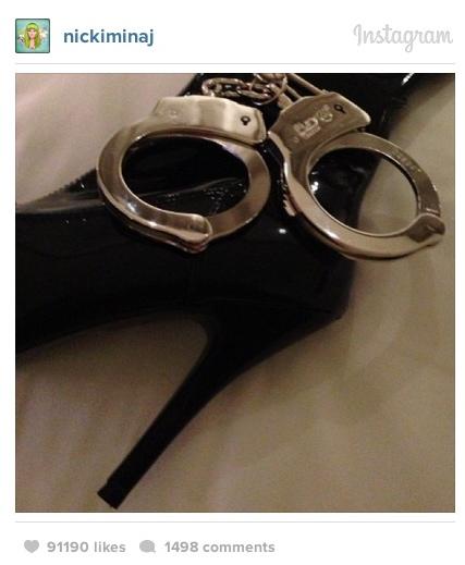 nicki minaj heels cuffs