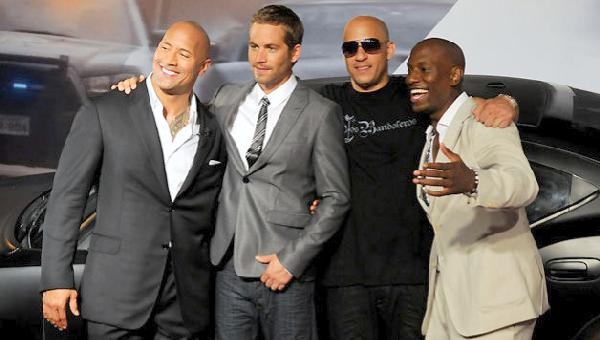 paul walker (rock walker diesel tyrese)