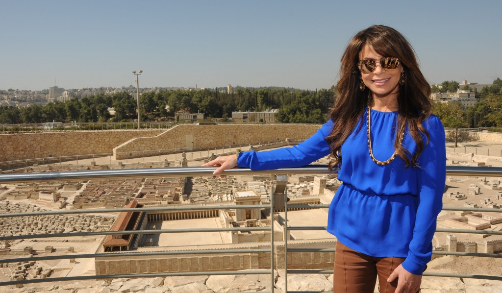 Singer-dancer Paula Abdul at the Israel Museum in Jerusalem.