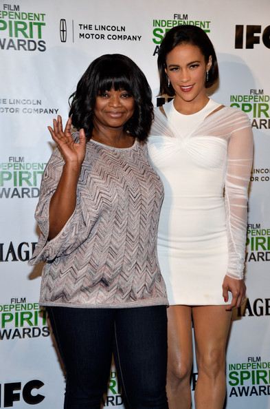 Actresses Octavia Spencer and Paula Patton attend the 2014 Film Independent Spirit Awards Nominations Press Conference at W Hollywood on November 26, 2013 in Hollywood