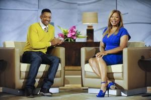 "Queen Latifah interviews Will Smith co-executive producer of ""The Queen Latifah Show."""