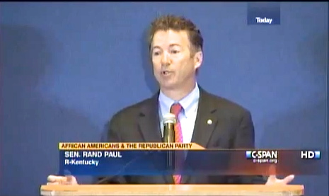 Rand Paul speaks at Howard University in Washington D.C. (April 2013)