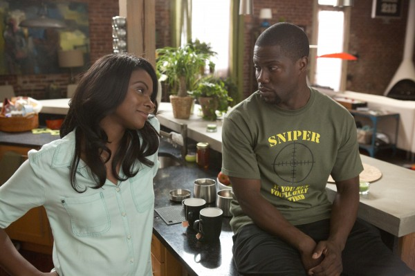 "Tika Sumpter and Kevin Hart in ""Ride Along"""