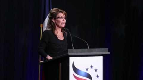 Former Alaska governor Sarah Palin speaks at an event held by the Iowa Faith and Freedom Coalition on Saturday, Nov. 9, 2013, at the Iowa State Fairgrounds in Des Moines, Iowa.