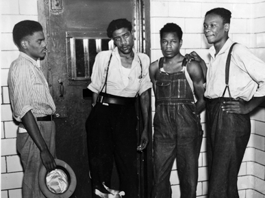 Scottsboro Defendants (L-R): Ozzie Powell, Willie Roberson, Clarence Norris, and Andy Wright.