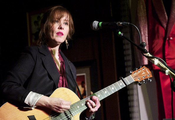 Singer Suzanne Vega performs in a benefit concert to raise funds for fighting breast cancer at Hard Rock Cafe Madrid on October 28, 2010 in Madrid