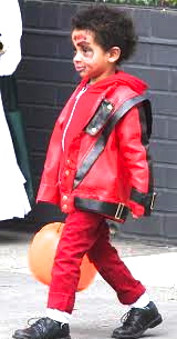 "Walker Nathaniel Diggs as a ""Zombie Michael Jackson"" for Halloween"