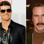 Robin Thicke, Ron Burgundy 'Ride Like the Wind' for 'Anchorman 2′