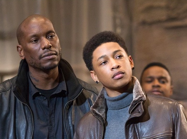 "Tyrese Gibson (L) and Jacob Lattimore in ""Black Nativity"""