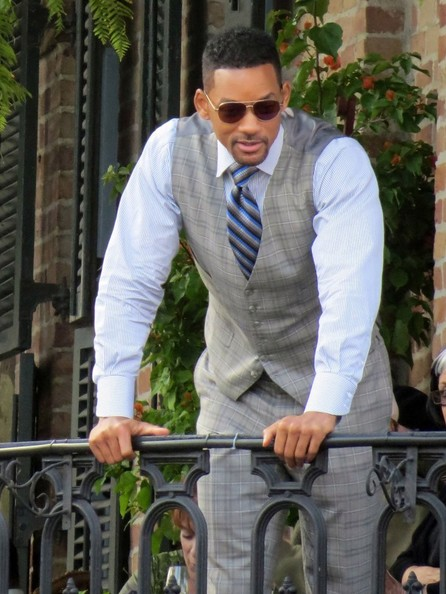 Actor Will Smith films a scene on the set of 'Focus' in New Orleans, Louisiana on November 5, 2013