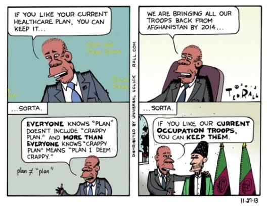 Credit: Cartoonist Ted Rall