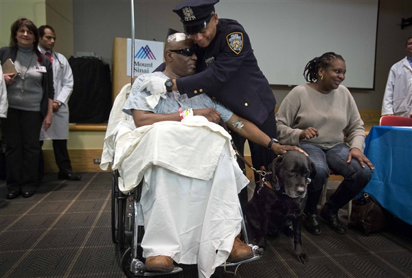 Subway victim can keep dog