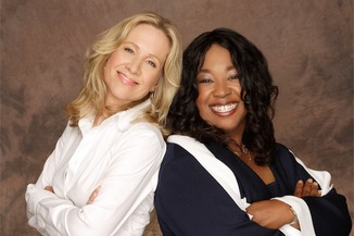Teamwork: Betsy Beers (L) and Shonda Rhimes (R) will receive the 2014 Diversity Award from the Director's Guild of America on January 25th.