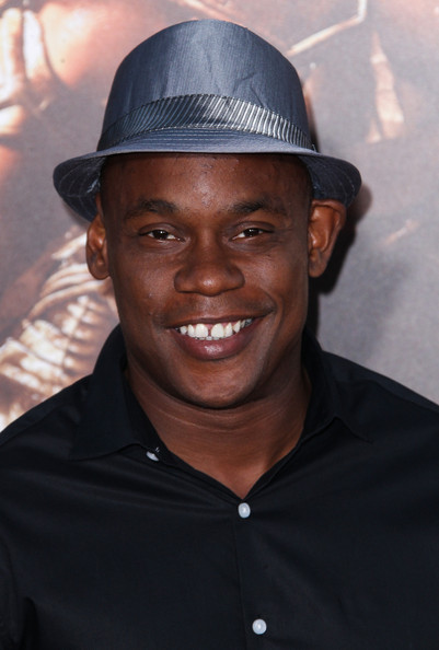 "Bokeem Woodbine attends the ""Riddick"" premiere at the Mann Village Theatre in Westwood, California on August 28, 2013"