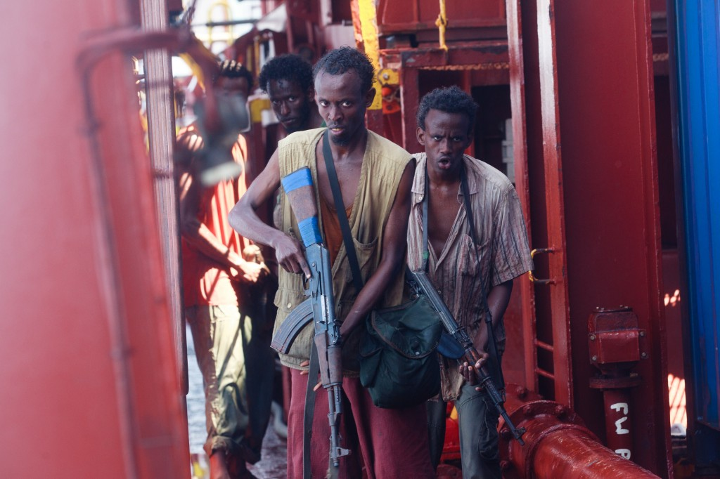 "Barkhad Abdi (L) in Columbia Pictures' ""Captain Phillips"""