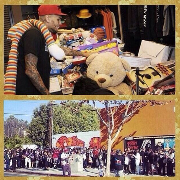 chris brown toy drive 2