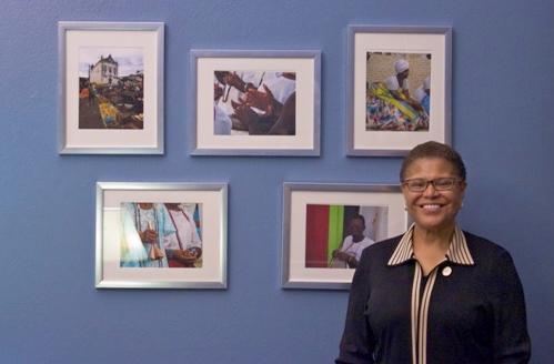 congresswoman karen bass & paulo lima art