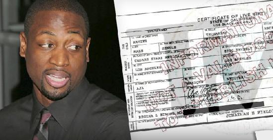 dwyane wade birth certificate
