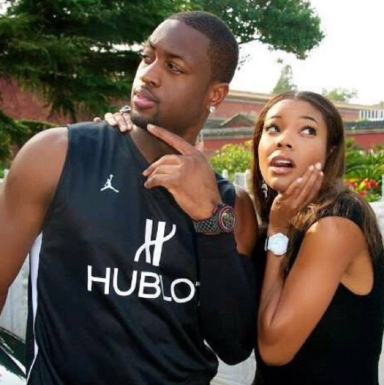 dwyane wade & gabrielle union (shocked expressions)