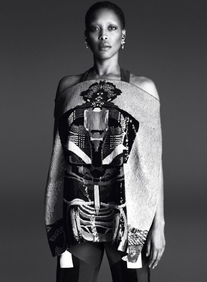 Erykah Badu in the the Givenchy by Riccardo Tisci spring/summer 2014 campaign