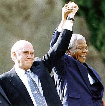 F.W. DeKlerk and Nelson Mandela