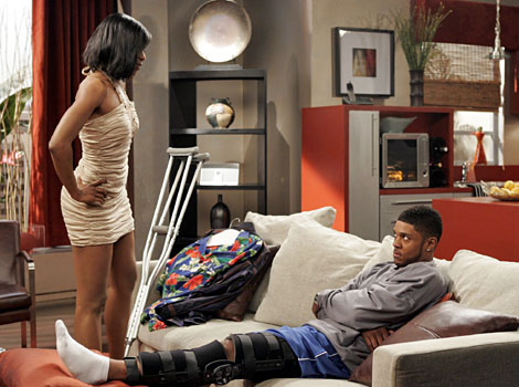 "The Game - Season 2, ""Bury My Heart at Wounded Knee"" - Gabrielle Dennis as Janay, Pooch Hall as Derwin"
