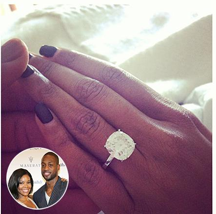 gabrielle union (engagement ring)