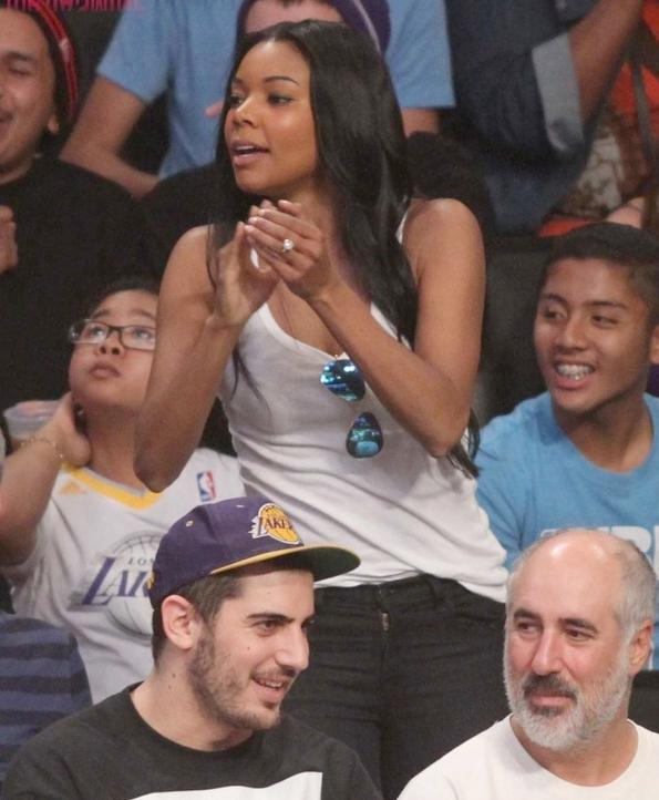 gabrielle union (lakers - heat game)