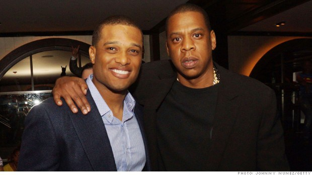 Robinson Cano and sports agent/rapper Jay Z
