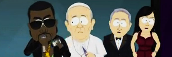 "Kanye West yanks the mic from Pope Francis and starts ranting on ""South Park"""