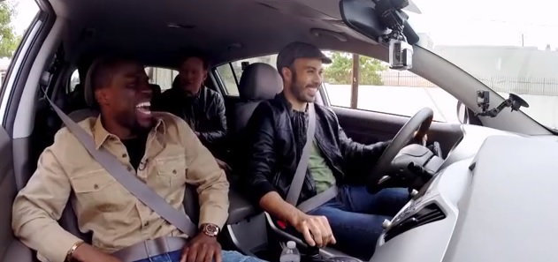 kevin hart, ice cube, conan o'brien lyft video