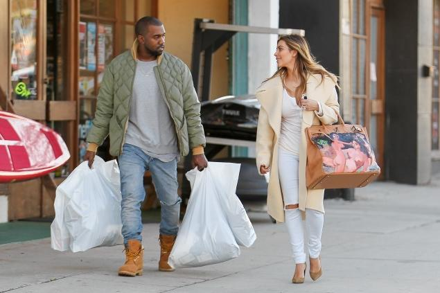 kim and kanye shopping