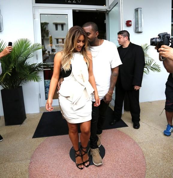Kim and Kanye got shopping on Black Friday. (November 29, 2013)
