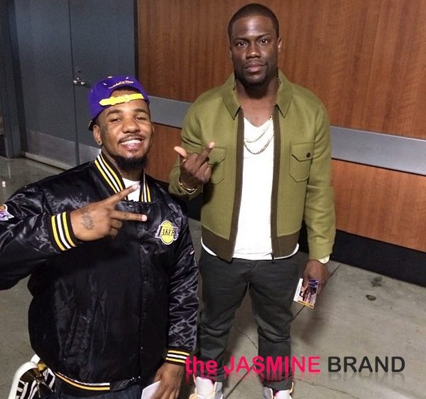 lakers game-kevin hart-the jasmine brand