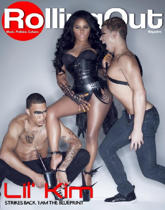 lil kim (and 2 guys rolling out cover)