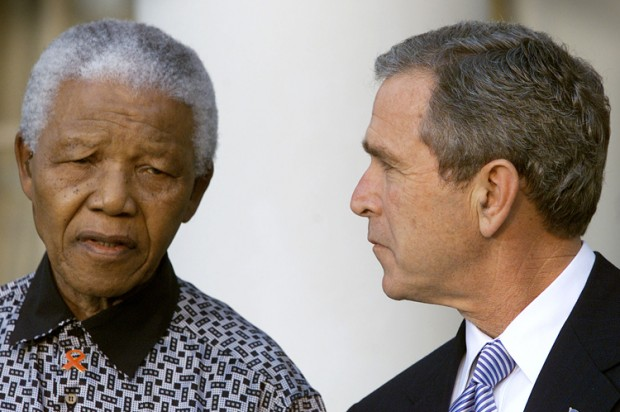 mandela and bush