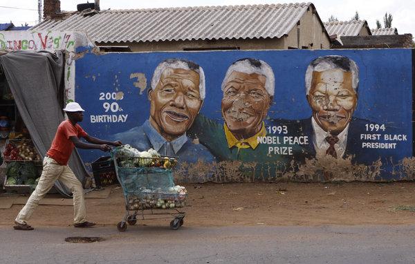 Nelson Mandela mural in Soweto