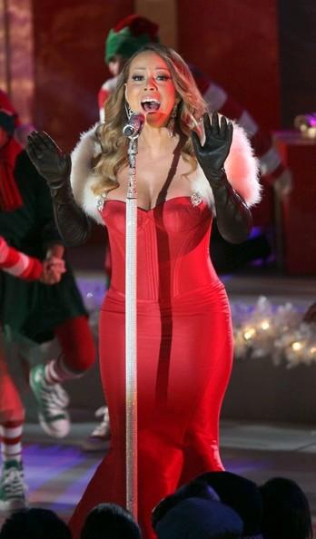 mariah carey red dress