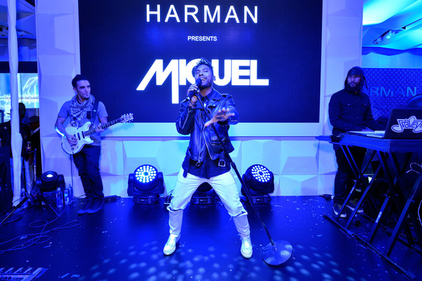 Singer Miguel performs onstage at the HARMAN Retail Store launch party on Madison Ave in New York City on November 14, 2013