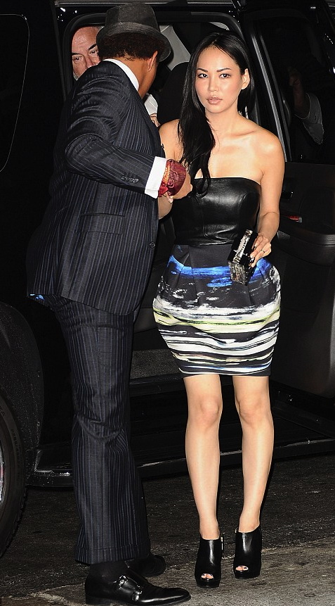 Terrence Howard and his Canadian girlfriend Miranda at the Premiere Of Universal Pictures' 'The Best Man Holiday' at TCL Chinese Theatre on November 5, 2013 in Hollywood