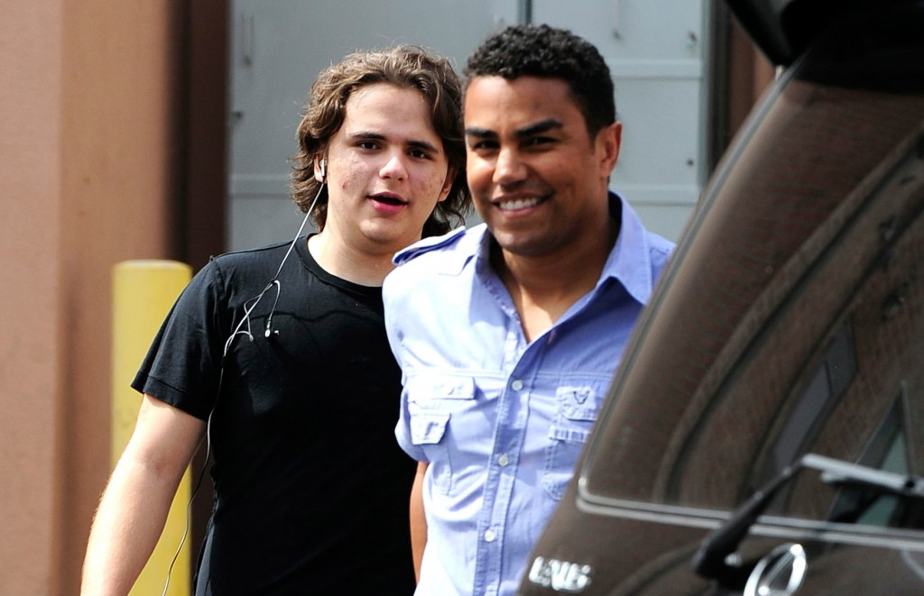 Prince Jackson (R) and his cousin TJ Jackson in Calabasas, Calif. (March 2013)