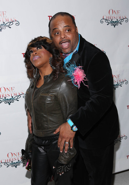 Lil' Mo and Roland Martin attend TV One's One Christmas Holiday Variety Special on November 19, 2013 in Washington, DC