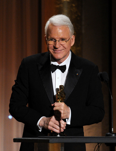 Honoree Steve Martin accepts honorary award onstage during the Academy of Motion Picture Arts and Sciences' Governors Awards at The Ray Dolby Ballroom at Hollywood & Highland Center on November 16, 2013 in Hollywood